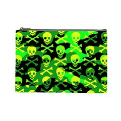 Skull Camouflage Cosmetic Bag (large)