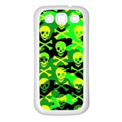 Skull Camouflage Samsung Galaxy S3 Back Case (white)