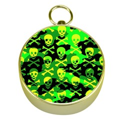 Skull Camouflage Gold Compass