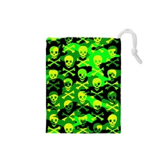 Skull Camouflage Drawstring Pouch (Small)