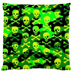Skull Camouflage Standard Flano Cushion Case (One Side)