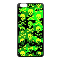 Skull Camouflage Apple Iphone 6 Plus Black Enamel Case
