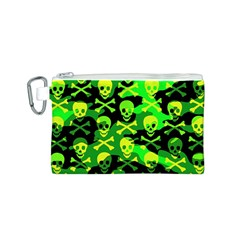 Skull Camouflage Canvas Cosmetic Bag (Small)
