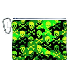 Skull Camouflage Canvas Cosmetic Bag (Large)