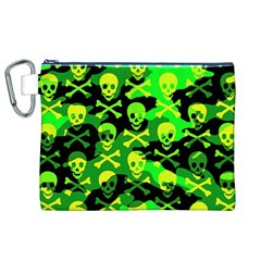 Skull Camouflage Canvas Cosmetic Bag (XL)
