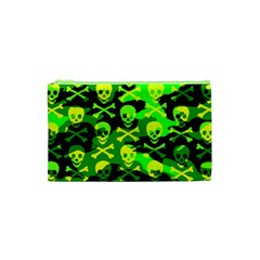 Skull Camouflage Cosmetic Bag (xs)