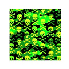 Skull Camouflage Small Satin Scarf (Square)