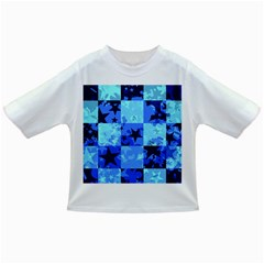 Blue Star Checkers Baby T Shirt