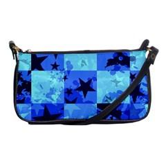 Blue Star Checkers Evening Bag