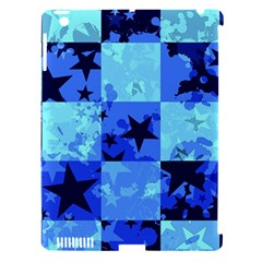 Blue Star Checkers Apple Ipad 3/4 Hardshell Case (compatible With Smart Cover)