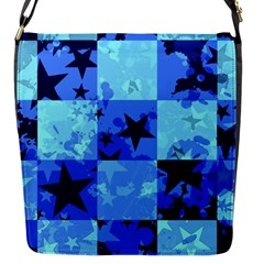 Blue Star Checkers Flap Closure Messenger Bag (small)