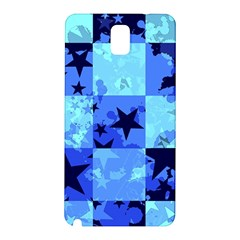 Blue Star Checkers Samsung Galaxy Note 3 N9005 Hardshell Back Case