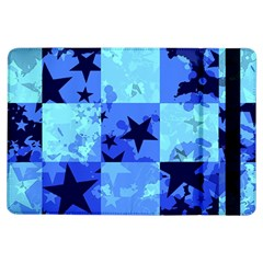 Blue Star Checkers Apple Ipad Air Flip Case
