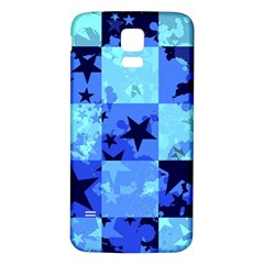 Blue Star Checkers Samsung Galaxy S5 Back Case (white)