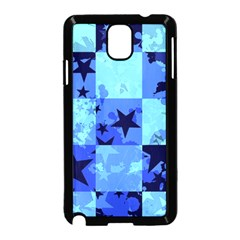 Blue Star Checkers Samsung Galaxy Note 3 Neo Hardshell Case (Black)