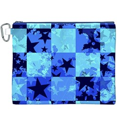 Blue Star Checkers Canvas Cosmetic Bag (xxxl)