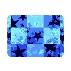 Blue Star Checkers Double Sided Flano Blanket (mini)