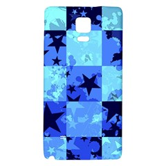 Blue Star Checkers Samsung Note 4 Hardshell Back Case