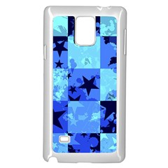Blue Star Checkers Samsung Galaxy Note 4 Case (white)