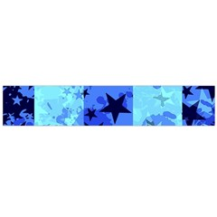 Blue Star Checkers Flano Scarf (large)