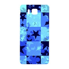 Blue Star Checkers Samsung Galaxy Alpha Hardshell Back Case