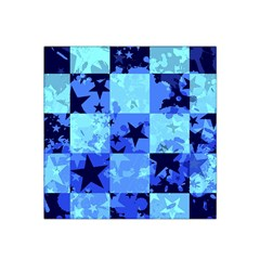 Blue Star Checkers Satin Bandana Scarf
