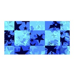 Blue Star Checkers Satin Wrap
