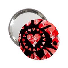 Love Heart Splatter Handbag Mirror (2 25 )