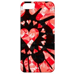 Love Heart Splatter Apple Iphone 5 Classic Hardshell Case