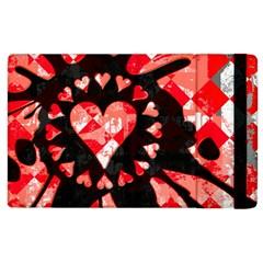 Love Heart Splatter Apple Ipad 3/4 Flip Case