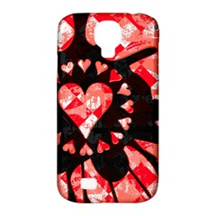 Love Heart Splatter Samsung Galaxy S4 Classic Hardshell Case (pc+silicone)