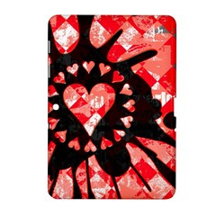 Love Heart Splatter Samsung Galaxy Tab 2 (10 1 ) P5100 Hardshell Case