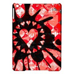 Love Heart Splatter Apple iPad Air Hardshell Case