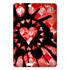 Love Heart Splatter Kindle Fire HD (2013) Hardshell Case