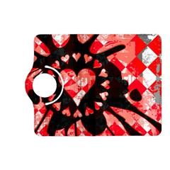 Love Heart Splatter Kindle Fire HD (2013) Flip 360 Case