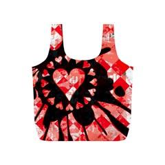 Love Heart Splatter Reusable Bag (s)