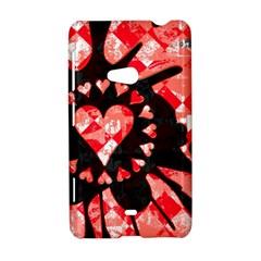 Love Heart Splatter Nokia Lumia 625 Hardshell Case