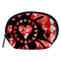 Love Heart Splatter Accessory Pouch (Medium)