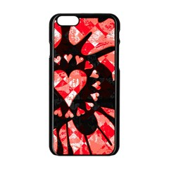 Love Heart Splatter Apple iPhone 6 Black Enamel Case