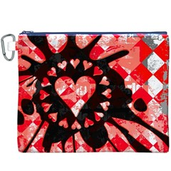 Love Heart Splatter Canvas Cosmetic Bag (XXXL)