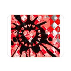 Love Heart Splatter Double Sided Flano Blanket (mini)
