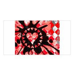 Love Heart Splatter Satin Shawl