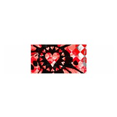 Love Heart Splatter Satin Scarf (Oblong)