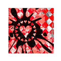 Love Heart Splatter Small Satin Scarf (Square)