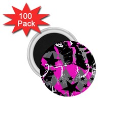 Pink Scene Kid 1 75  Button Magnet (100 Pack)