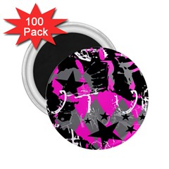 Pink Scene Kid 2 25  Button Magnet (100 Pack)