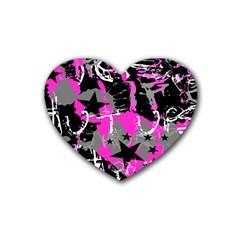 Pink Scene Kid Drink Coasters (heart)