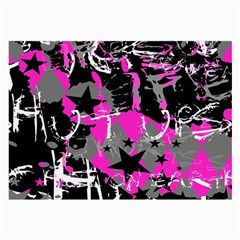 Pink Scene Kid Glasses Cloth (large, Two Sided)