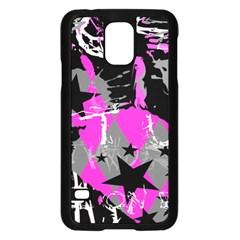 Pink Scene kid Samsung Galaxy S5 Case (Black)