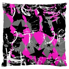 Pink Scene kid Large Flano Cushion Case (One Side)